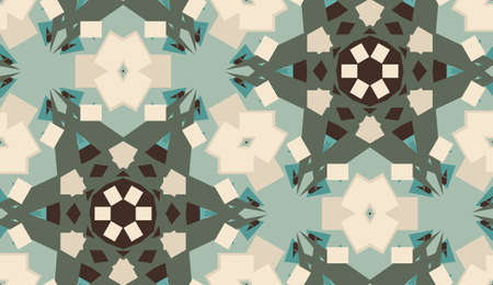 Background with rectangular shapes and polygons as seamless pattern