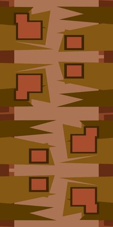 pointy: Seamless brown abstract background of pointy and square shapes