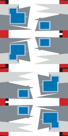 pointy: Repeating abstract background of pointy and square shapes Illustration