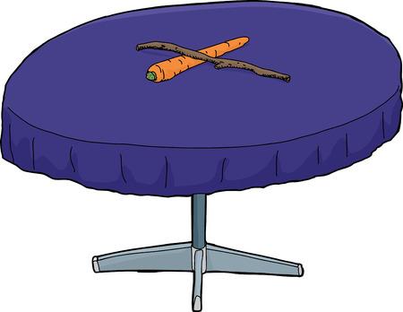 bestechung: Isoalted runden Tisch mit Zuckerbrot und Peitsche auf
