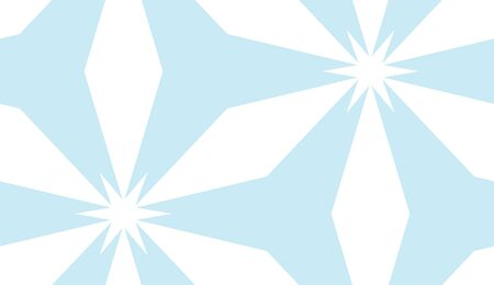 estrella azul: Kaleidoscope background as white on blue star seamless pattern Vectores