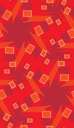Red repeating wrapping paper pattern of rectangles and triangles