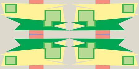 quadrati astratti: Forme astratte quadrate in fondo ripetere modello Vettoriali