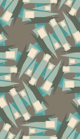 wrapping paper pattern: Repeating wrapping paper pattern of rectangles and triangles