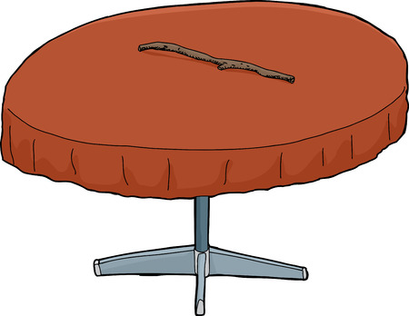 intimidating: Illustration of isolated round table with stick on top Illustration