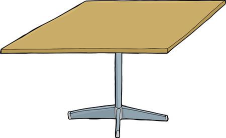 Single isolated table illustration over white background