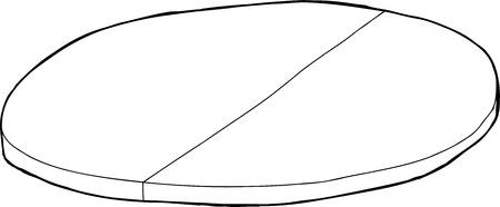 tabique: Individual esbozo de dibujos animados de mesa redonda con partici�n