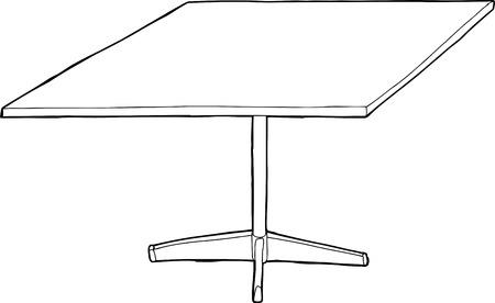 outlined isolated: Ilustraci�n mesa aislada esbozado sobre fondo blanco Vectores