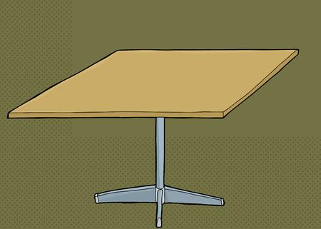 Single green rectangular table over green background Иллюстрация