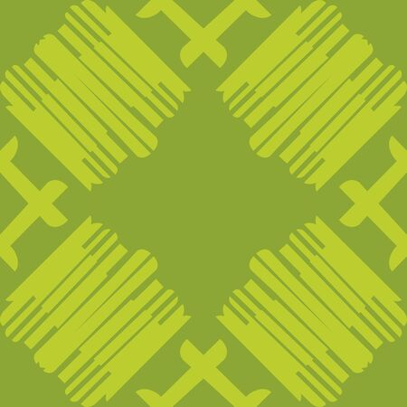 Seamless tiled pattern of lines over green Иллюстрация