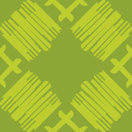 Seamless tiled pattern of lines over green Ilustração