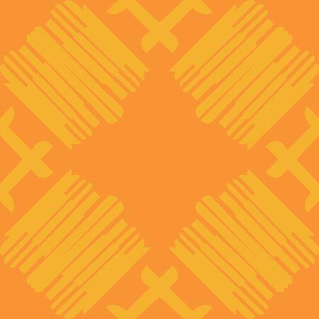 シームレスな背景タイル張りのオレンジ色のグループが並ぶ  イラスト・ベクター素材