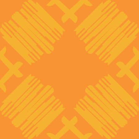 Seamless background of tiled orange lined groups