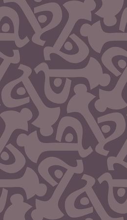 Purple abstract key shape in repeating kaleidoscope pattern