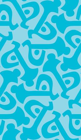 Wallpaper pattern of abstract blue key shapes Ilustração