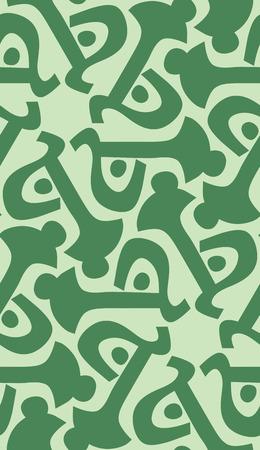 Green key shape in seamless wallpaper pattern