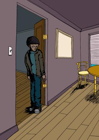 portone: gioventù nero insultato con cipiglio in porta