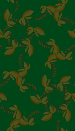 Abstract tropical shapes in over green in kaleidoscope pinwheels