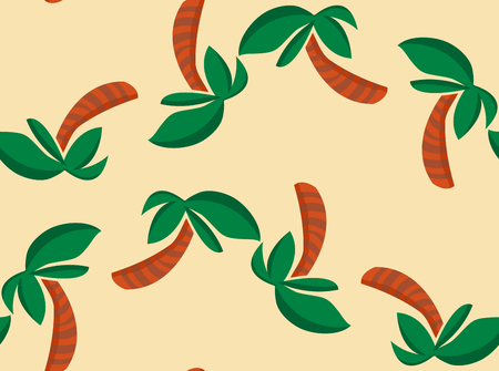 Seamless background pattern of alternating palm tree shapes Ilustração