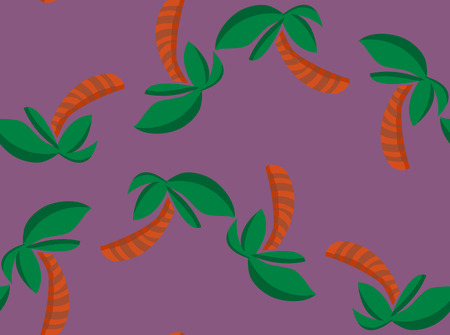 alternating: Repeating background pattern of alternating palm trees on purple Illustration