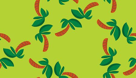 Background pattern of seamless tropical palm tree shapes Иллюстрация
