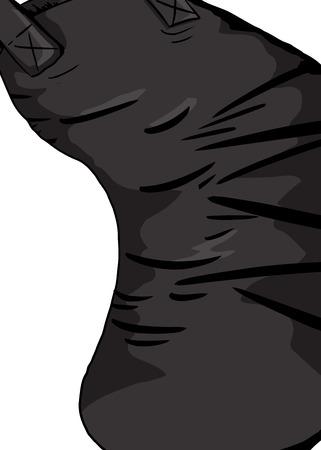 Hand drawn illustration of a bent in punching bag Illusztráció