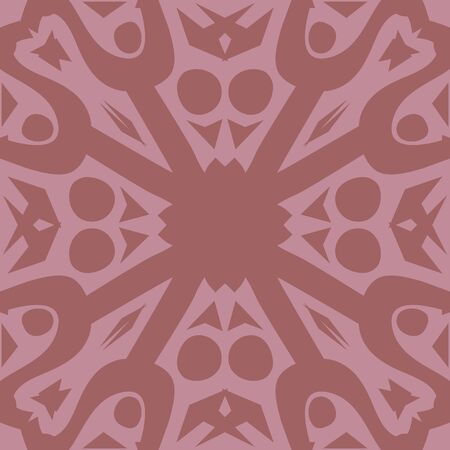 tile pattern: Decorative symmetrical repeating pink tile pattern background Illustration