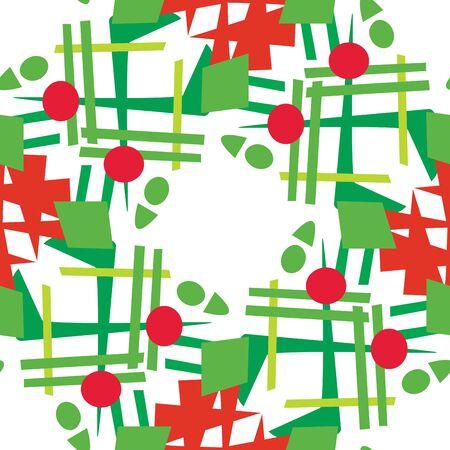 coronas navidenas: Modelo del fondo de guirnaldas de Navidad abstractos sobre blanco