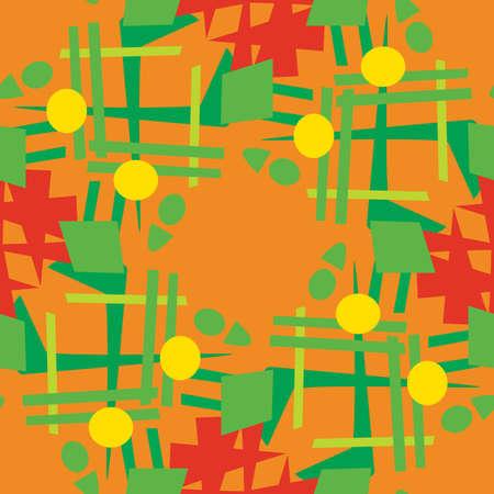 coronas navidenas: Modelo incons�til del fondo de abstractos guirnaldas de Navidad Vectores