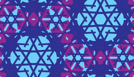 Blue kaleidoscope background as a seamless pattern