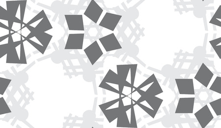 灰色の三角形の背景パターンを繰り返し  イラスト・ベクター素材