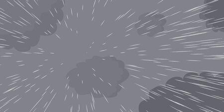 precipitaci�n: Ilustraci�n de dibujos animados de fondo de la lluvia que cae desde arriba Vectores