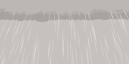 Background cartoon illustration of rain falling from cloud