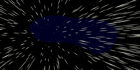 Background cartoon illustration of fast moving stars in space