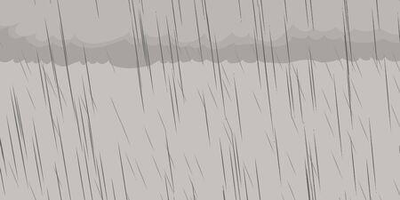 precipitation: Background illustration of gray clouds during rainy storm Illustration
