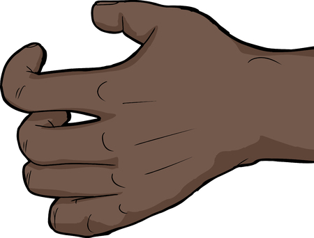 arthritic: Single human hand holding nothing over white background