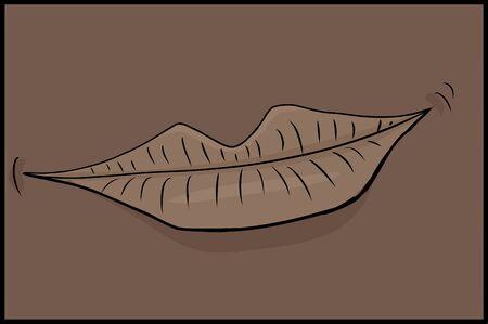 lips close up: Close up cartoon of grinning human lips Illustration