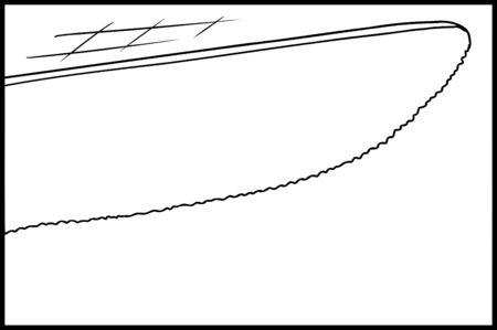 tip: Outline illustration of tip of knife cutting