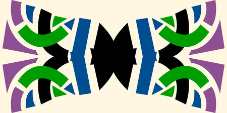 bowtie: Abstract bowtie shape pattern over white background