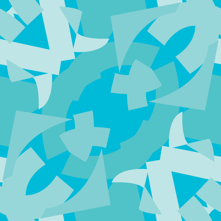 Symmetrical triangle patterns of blue triangular shapes