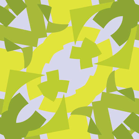 Green symmetrical triangle pattern tiles over gray background
