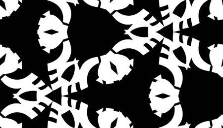 tiled: Repeating tiled pattern of black symmetrical triangular shapes Illustration