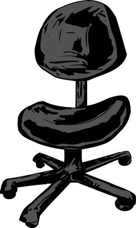 single seat: Single office task chair over white background Illustration