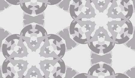 Seamless background pattern of gray snowflake shapes Иллюстрация