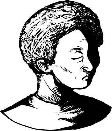 Umrissener schwarzer Jugend mit geschlossenen Augen und Tränen Standard-Bild - 47747026