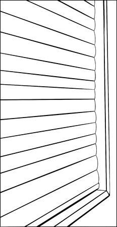 blinds: Illustration of window with closed blinds close up
