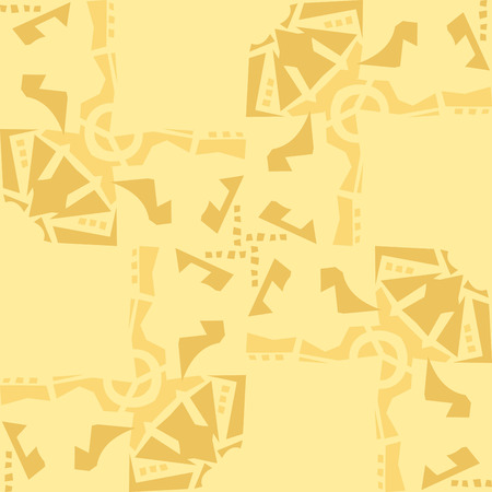 Abstract repeating background pattern of yellow rectangular shapes