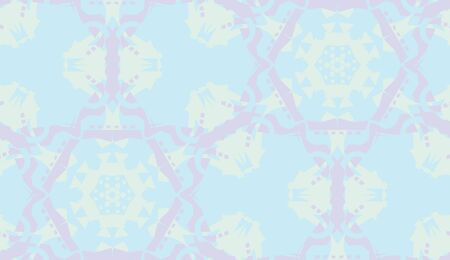 Seamless blue and purple doily background pattern