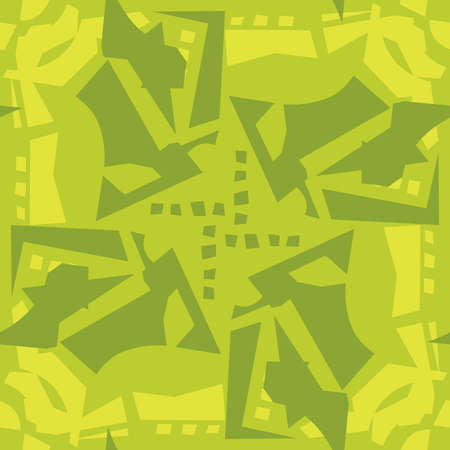 repeating: Abstract green leaves in repeating background pattern Illustration