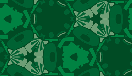 repeating: Repeating abstract green shapes in repeating background pattern